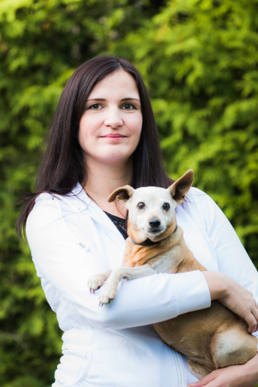 Katja Böckl (in Mutterschutz) mit Sunny
